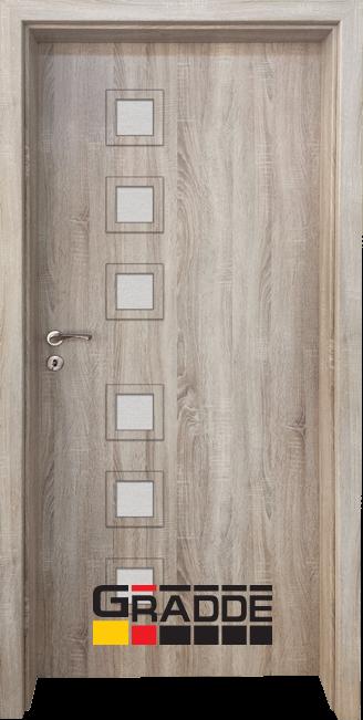Интериорна HDF врата, модел Gradde Reichsburg, Дъб Вераде