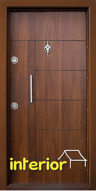 Блиндирана входна врата, модел Т587 Златен дъб