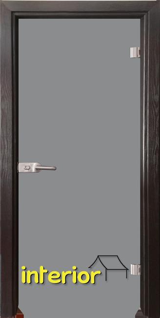 Стъклена интериорна врата модел Basic G 10 с каса Венге