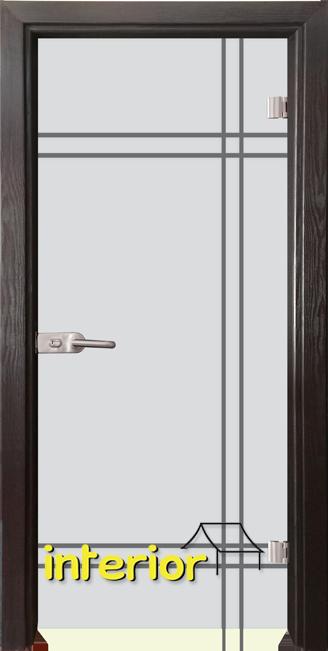 Стъклена интериорна врата модел Gravur G 13-8 с каса Венге