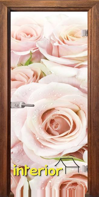 Стъклена интериорна врата модел Print G 13-7 с каса Златен дъб