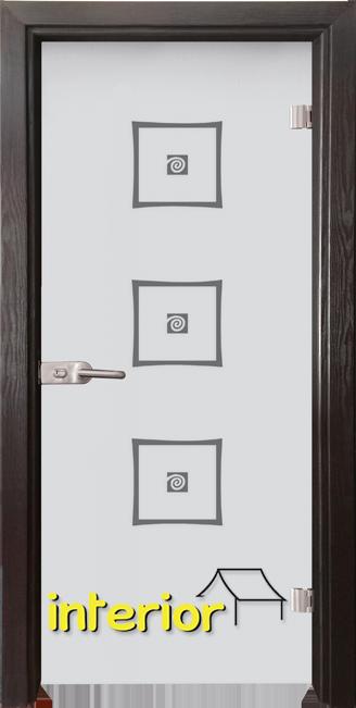 Стъклена интериорна врата модел Sand G 14-3 с каса Венге
