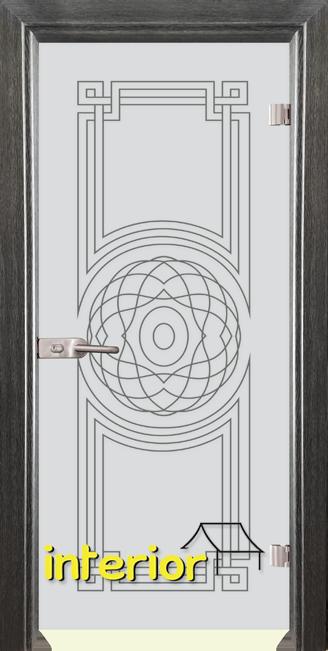 Стъклена интериорна врата модел Sand G 14-8 с каса Сив Кестен