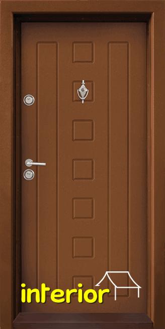 Блиндирана входна врата, модел Т712 Златен дъб