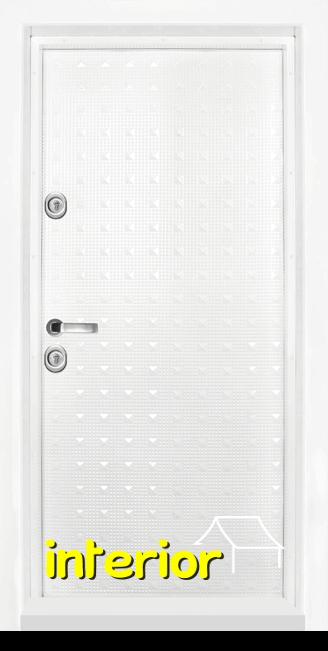 Блиндирана входна врата, модел Т777 Бял гланц