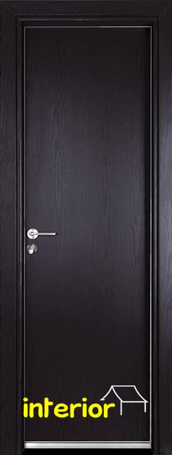 Алуминиева врата за баня – Gama, цвят Венге