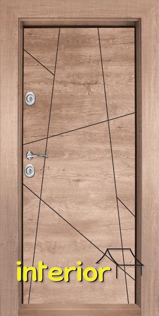 Блиндирана входна врата, модел Т1003