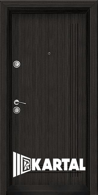 Блиндирана врата Серия Хармония Черна перла. облицована